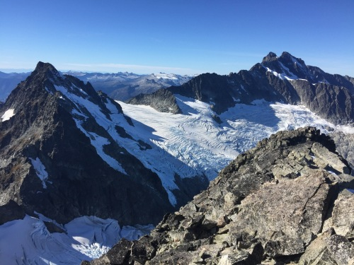 Looking to Tantalus (R) and Serratus (L) from the summit.
